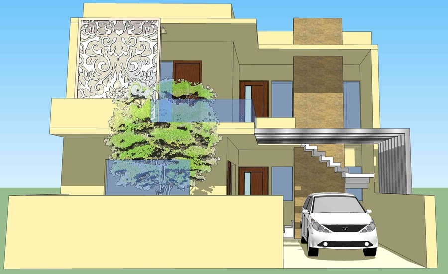 Residence design ludhiana by avneet singh architect in for Architecture design for home in punjab
