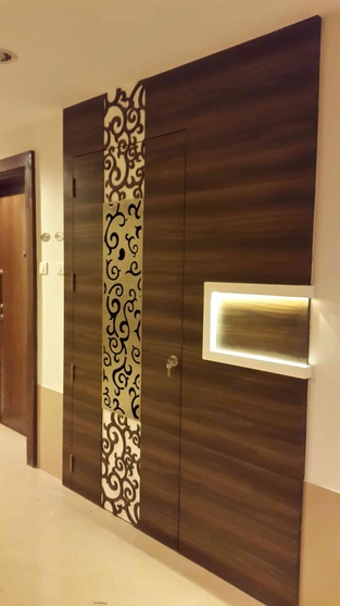 Indian home entrance wall design for Residential main door design