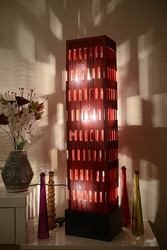 Sustainable Handmade Sylvn Studio Sierra Red Floor Lamp