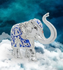 Royal Blue Elephant 6 Inch
