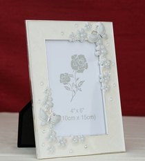 Photo Frame Butterfly Flower