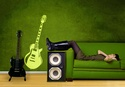 Guitar Wall Decal ( KC054 )