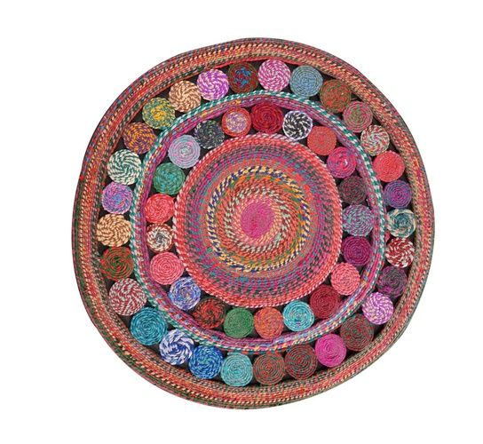 Recycled, Hand-woven Cotton Rug