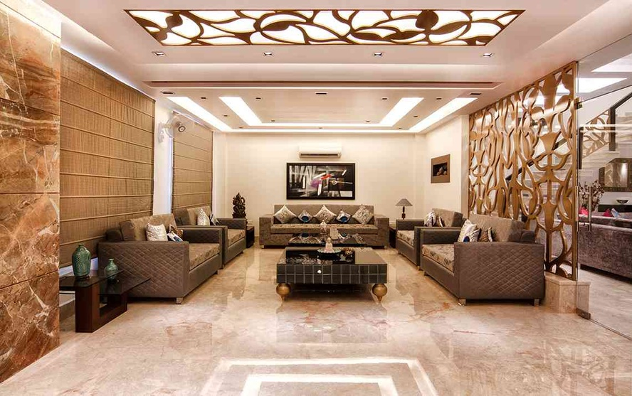 False ceiling designs india false ceiling interior for Interior of indian living room
