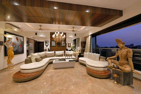 LUXURIOUS LIVING ROOM WITH ITS UNIQUE DESIGNS