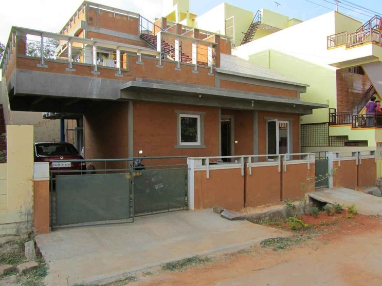 Dinesh house mysore by design place architect in for Indian homes front design