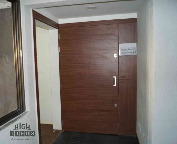 Call center interior design project work station design for Office glass door entrance designs
