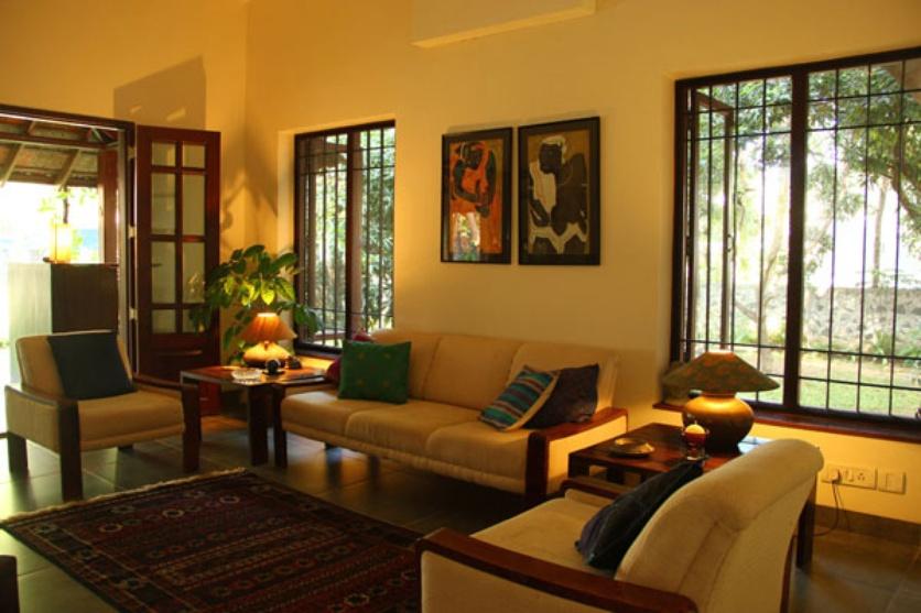 Casa rojo by benny kuriakose architect in chennai tamil for Living room designs chennai