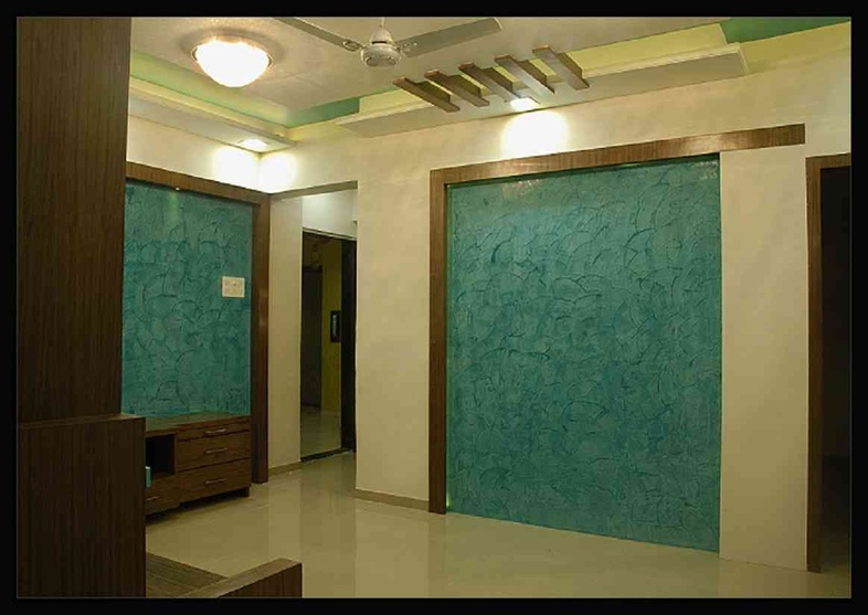 3bhk flat by designint interior designer in pune for Interior decoration pictures 2 bhk flats