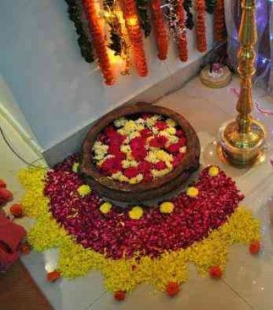 Ganpati Decoration Ideas At Home Images With Flowers Photo Gallery 2015
