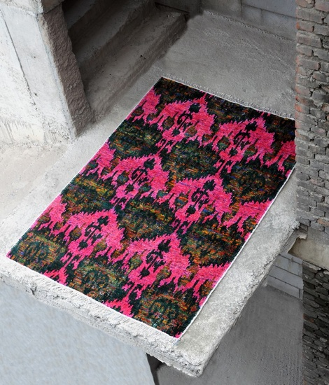 hand-knotted Viscose Rug