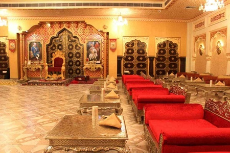 Royal Dining Table at Virasat Heritage Restaurant Jaipur