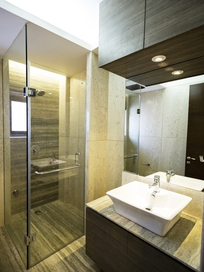 Cuboid house by amit khanna architect in delhi delhi india for Bathroom interior designers in delhi