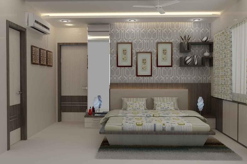 Ram chandani by mahendra jadeja interior designer in navi for Interior wallpaper designs india