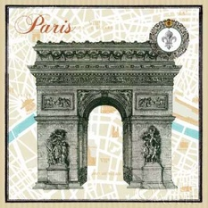 Monuments des Paris Arc Poster