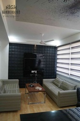 Office Lather Fabric Paneling Wall Display HighTieds Interior Design Ahmedabad