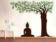 Buddha Under Tree Wall Decal ( KC069 )