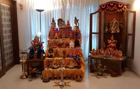 Navratri Home Mandir Decor