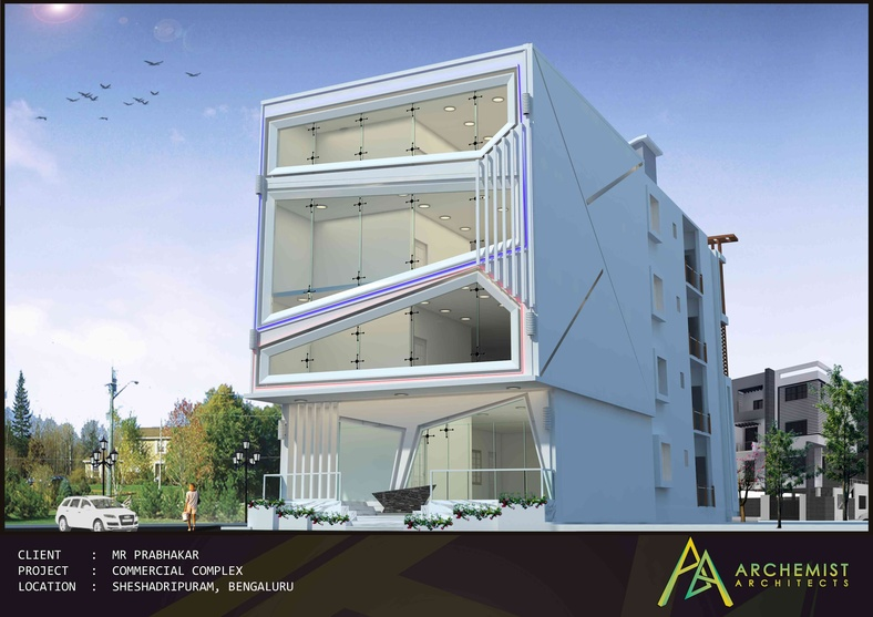 commercial building elevation acp joy studio design