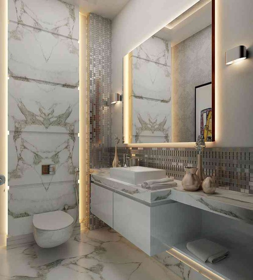 Residential apartments by rohit kumar interior designer for Bathroom interior designers in delhi