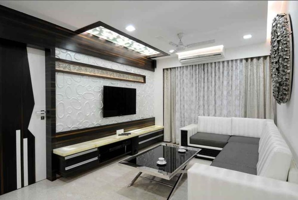 Living room interior design design decor for 1 bhk interior design cost