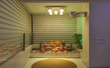 Spacious Pooja Room Design
