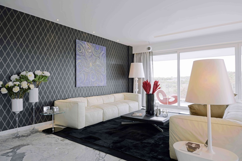 Villa a3 the ridges by aijaz hakim architect in pune for Wallpaper designs in india for living room