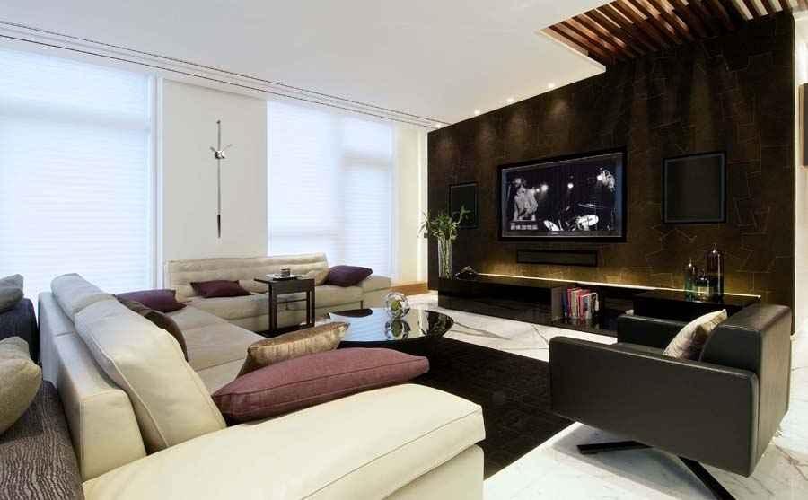 Villa in the sky by kns architects architect in mumbai - The living room mumbai maharashtra ...