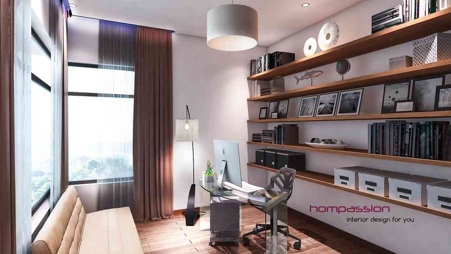 Home Office For Premium Apartment In Mumbai By Hompassion