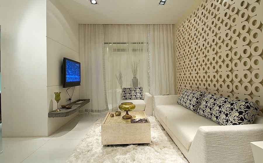 Rna pallazo 2bhk show flat by shahen mistry interior for 2 bhk interior decoration