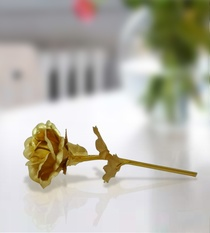 Gold Foil Artificial Rose