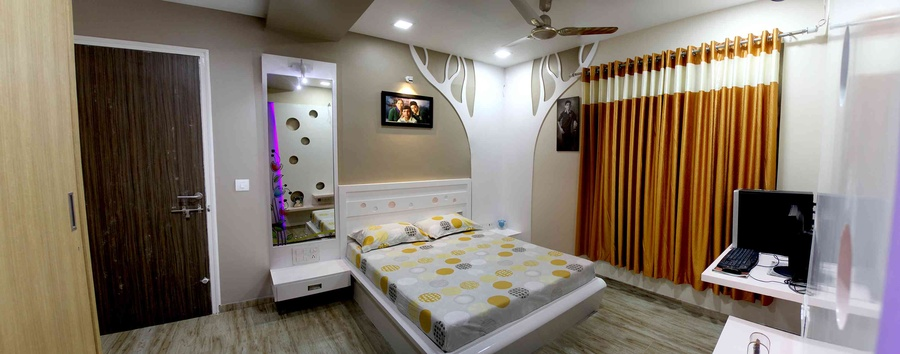 Interior flat by sanket rudani interior designer in Flats interior design pictures india