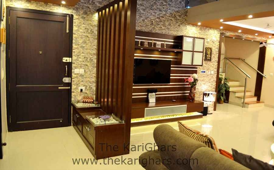 Eclectic interior design by abhishek chadha interior for Apartment interior designs india