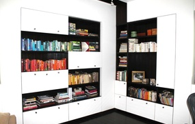 Design Homes Library Ideas