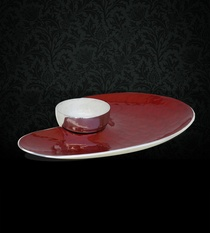 Dip Platter Heart (Red)