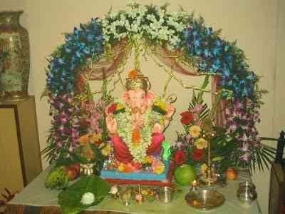 Ganesh Vinayaka Chaturthi Decoration Ideas 2016 For Home