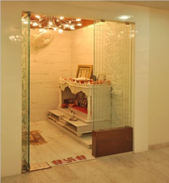 Pooja room glass door designs images pooja room doors in for Room door design for home