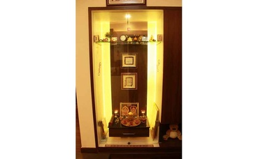 Glass Cabinet cum Mini Pooja Ghar