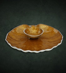 Dip Platter Shell (Golden)