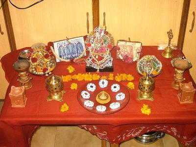 Home Decoration Before Dussehra Bhagat Rajwar Pujar Room Decor