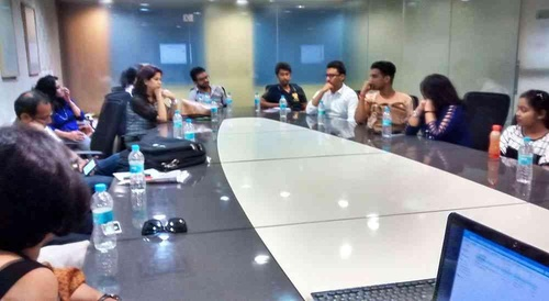 Participants at ZingyDesign Meetup, New Delhi