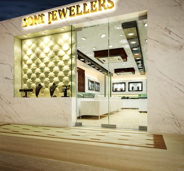 Jewellery Showroom Front Elevation : Interiors of a jewellery showroom by arnav khanna