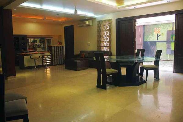 Dholpur Stone Elevation : Chabbra s home go mediterranean in gurgaon interior