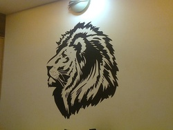 Lion Head Wall Decal ( KC009 )