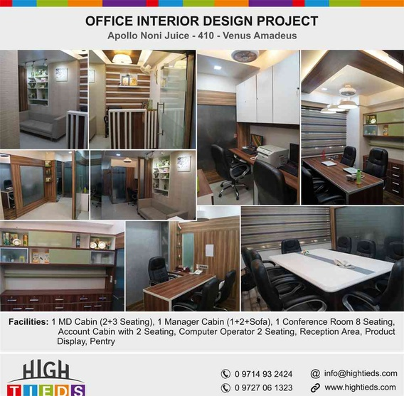 1100 square feet corporate office interior design project for Corporate office interior design