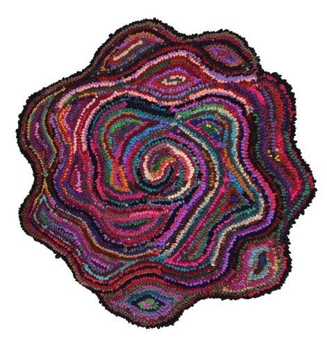 Flower Shaped Rug, Recycled Cotton Rugs, Hand Tufted Rose Rug