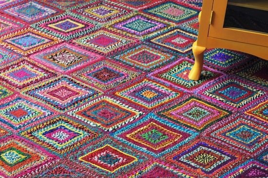 Recycled Ethnic Cotton Rug