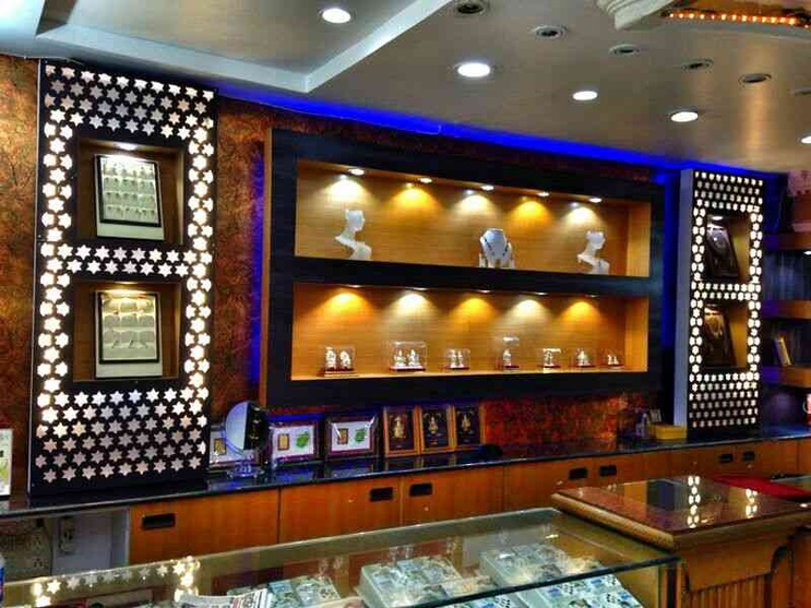 Jewellery Showroom Front Elevation : Jewellery showroom by shraddha modi interior designer in