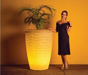 Illuminated Planter Chiara