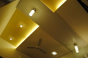 Recessed and Mounted Lights on the Ceiling